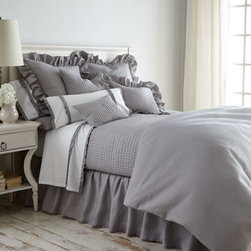 """Amity Home - Amity Home Full Dust Skirt - Not only is """"Basillo"""" bedding a just-right combination of ruffles and textures, but an array of color choices gives you lots of mix-and-match options. All of linen except European shams and """"Petite Ruffle"""" linens which are cotton. Machine wash. Imported. Select color when ordering. Dust skirts hav"""