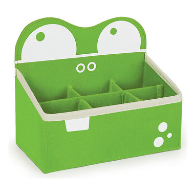 P'kolino - Green Mess Eaters Desk Caddy - Stash crayons, markers, pencils and more in this adorable Mess Eaters caddy. Made of durable polyester, it's great for organizing the room and school supplies.   6.4'' W x 7.7'' H x 4.1'' W Polyester Recommended for ages 3 years and up Imported