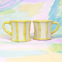 Bamboo Mugs - Preppy meets Palm Beach Chic with these adorable bamboo mugs from Furbish.