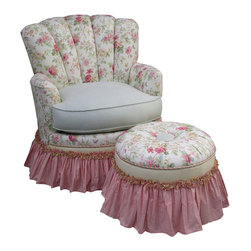 Angel Song - Princess Rocker Glider Chair - English Bouquet - Adult Princess Rocker Glider Chair - English Bouquet