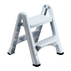 Rubbermaid - Rubbermaid EZ Step Folding Step Stool (3 Pack) (420903-WHT) - Rubbermaid 420903-WHT EZ Step Folding Step Stool