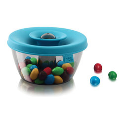 Blue Snack Dispenser - Ingenious design makes snacking more fun than it ought to be.