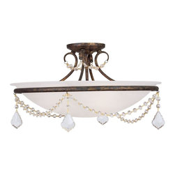 Livex Lighting - Livex Lighting-6525-71-Chesterfield - Three Light Semi-Flush Mount - *Canopy Included.
