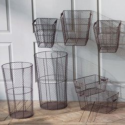 Wire Baskets - Wire baskets are one of the best ways to bring a touch of vintage modern style to your home. This set of three square baskets will help you get organized with style.