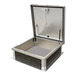 """Best Access Doors - Galvanized Roof Hatch, Prime Coated Galvanized Steel, 30""""x36"""" - 30"""" x 36"""" Galvanized Roof Hatch   BA-RHG Galvanized Roof Hatches are designed to provide convenient, economical access to the Roof of a building. Our hatches are designed with safety, durability and ease of operation in mind   In-Stock and Ready to Ship !      -    Application: - Roof Hatches are designed to provide convenient, economical access to the Roof of a building. Product Features - prime coated galvanized steel   BA-RHG Roof Hatch Specifications: - Cover: Double-skin construction (""""in box type design"""") with 1"""" cellulose insulation and a continuous EPDM foam weather/draft seal gasket that is attached to inside of cover to provide a flush tight fit.The cover is designed to support a live load of 40 lbs./sq. ft. Outer skin is 14 gauge Galvanized steel - Inner Skin: 22 gauge galvanized steel Curb:- 14 gauge galvanized steel with 1"""" thick fibreboard roof insulation at curb exterior. Curb is 12"""" high, with 3.375"""" wide bottom flange and pre-drilled mounting holes.Hinge:- Zinc plated steel or stainless steel- Opening: Gas spring operators allow cover to open and close with ease. Built in hold open arm locks cover into open position. Inside pull handle allows for easy control when closing cover.- Door Latch: Self Latching zinc plated outside T handle with stainless steel inside lock and lever assembly. Unit also has inside and outside padlock provisions."""