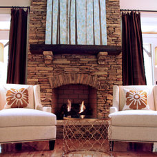Traditional Living Room by Lucy and Company