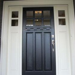 Front Door Close Up Kerrisdale Paint Grade Sidelite Door Sideli