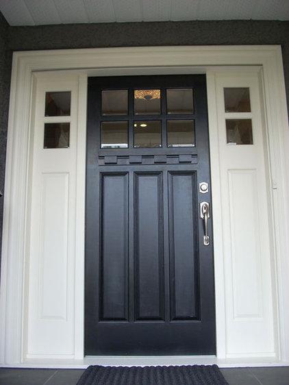 Home exterior ideas - Black craftsman front door ...