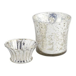 Mercury Candleholders - I like to vary the heights of lighting on my tablescape. These paired with some taller candles would be so pretty.