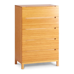Greenington - Greenington Orchid Five Drawer Chest in Classic Bamboo - Dark Chocolate - Five Drawer Chest in Classic Bamboo belongs to Orchid Collection by Greenington Comfort and style await you in the relaxing oasis of your bedroom with Greenington's The Orchid Collection.