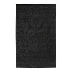 Surya Rugs - Sculpture Designer Hand Loomed 100% Wool Charcoal Gray Rug SCU-7510 - 100% Wool. Style: Designer. Rugs Size: 5' x 8'. Note: Image may vary from actual size mentioned.