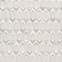 Vibe Lounge Mix Mosiac Field in White Gloss - Ceramic and Terracotta