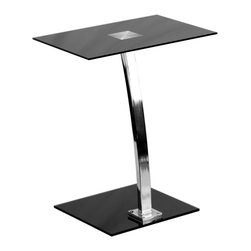 Flash Furniture - Flash Furniture Laptop Computer Desk with Silk Black Tempered Glass Top - This glass desk is best for those looking for a simple yet elegant option for their laptop, reading or writing assignments. The compact size of this desk is perfect for small spaces. [NAN-LT-07-GG]