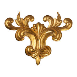 uDecor - GF-2058 Ornamental - For anyone looking for an elegant way to adorn your home or business, our gold foil products are the perfect way to achieve your desired look. Made out of polyurethane and then coated with 18k gold foil, these products are sure to leave your family and clients impressed.  Made from dense polyurethane