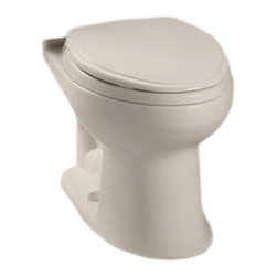Toto - Toto C744E#03 Bone Drake E-Max Elongated Toilet Bowl Only - The Drake series gives a simple, sleek style to any bath with it's variety of options and finishes.