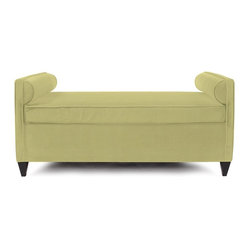 Howard Elliott - Sterling Cosmopolitan Daybed - Lounge in style on our Cosmopolitan Daybed. Its sturdy size and construction make it perfect for any sitting room. With built in bolsters and large cushion you may want to take a nap! Seat height is 22.