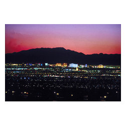 Custom Photo Factory - Las Vegas Skyline at Night Canvas Wall Art - Las Vegas Skyline at Night  Size: 20 Inches x 30 Inches . Ready to Hang on 1.5 Inch Thick Wooden Frame. 30 Day Money Back Guarantee. Made in America-Los Angeles, CA. High Quality, Archival Museum Grade Canvas. Will last 150 Plus Years Without Fading. High quality canvas art print using archival inks and museum grade canvas. Archival quality canvas print will last over 150 years without fading. Canvas reproduction comes in different sizes. Gallery-wrapped style: the entire print is wrapped around 1.5 inch thick wooden frame. We use the highest quality pine wood available. By purchasing this canvas art photo, you agree it's for personal use only and it's not for republication, re-transmission, reproduction or other use.