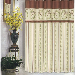 Other Brands - Carnation Home Fashions Victorian Christmas Fabric Shower Curtain Multicolor - F - Shop for Shower Curtains from Hayneedle.com! Refined and seasonal the Carnation Home Fashions Victorian Christmas Fabric Shower Curtain carries your holiday decor through the whole house and does it in style. This shower curtain has a Victorian-inspired wreath and holly pattern in tasteful tan burgundy and green. It's made of polyester fabric that is conveniently machine-washable.About Carnation Home FashionsYour home your style Carnation Home Fashions believes in this motto. That s why this home fashions company offers a wide range of on-trend and classic products designed for style and convenience. Perfect for matching today s busy lifestyles their bath products meet your needs in style. Carnation Home Fashions is based in Newburgh New York.