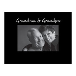 Havoc Gifts - Black 'Grandma & Grandpa' Frame - Engraved lettering ups the sophistication of this timeless frame, perfect for showcasing cherished memories. It comes ready to display with an easel back and simple sawtooth hanger.   9'' W x 7'' H x 0.5'' D Holds 4'' x 6'' photo Wood / glass / paper Easel / sawtooth back Imported