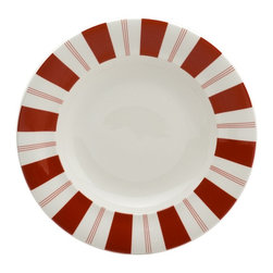 Red Vanilla - Red Vanilla Rouge 9.5 in. Rimmed Soup Bowl - Set of 4 Multicolor - RDVN217 - Shop for Bowls from Hayneedle.com! Some people may be content to eat off of boring plates but if you invite them over for a bit of gazpacho in the Red Vanilla Rouge 9.5 in. Rimmed Soup Bowl - Set of 4 they'll clearly see what they're missing. You'll make plenty of converts to the cause of fun dining when they get an eyeful of the bright red-on-white design on a body of durable high-quality porceliain. Each bowl is safe for use in the dishwasher or microwave. About Red VanillaFor a great night out or a quiet night in Red Vanilla will be there. Offering a high-fashion way to enjoy dinner with friends music on the green or just lunch at your desk Red Vanilla offers pieces that are as unexpected as they are varied. Brian Blake established Red Vanilla in 2004 with two overarching ideas: Red Vanilla needed to embody a lifestyle of entertainment enjoyment and design and Red Vanilla needed to define itself by finding ideal products of the highest quality. Everything they make centers on the cutting edge of design while driving the industry forward with an inspired perspective.