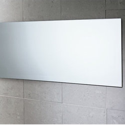 """Gedy by Nameeks - Planet Vanity Mirror - Features: -Vanity mirror. -Finish: Polished. -Constructed of mirror. -Shape: Rectangle. -Wall mounted. -For contemporary bathrooms. -Dimensions: 15.7"""" H x 0.8"""" D x 39.4"""" W."""
