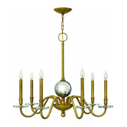 Hinkley Lighting - Hinkley Lighting 4206 Everly 7 Light 1 Tier Candle Style Chandelier - Seven Light Single Tier Candle Style Chandelier from the Everly CollectionFeatures: