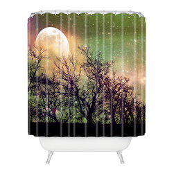 DENY Designs - Shannon Clark Moon Magic Shower Curtain - Who says bathrooms can't be fun? To get the most bang for your buck, start with an artistic, inventive shower curtain. We've got endless options that will really make your bathroom pop. Heck, your guests may start spending a little extra time in there because of it!