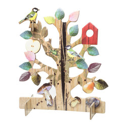 OOTS! - Pop-Out Cards: Tree - Filled with life and wishful thinking, this whimsical, pop-out gift card is the giving tree that quite literally keeps on giving. Including a note card and envelope, the eclectic tree, cut from recycled cardboard, will bring wide-eyed wonder to children and adults alike.