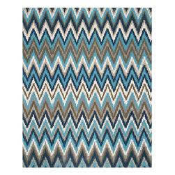 "Safavieh - Isla Bella Flatweave Rug, Teal / Blue 7'3"" X 9'3"" - Construction Method: Hand Loomed. Country of Origin: India. Care Instructions: Vacuum Regularly To Prevent Dust And Crumbs From Settling Into The Roots Of The Fibers. Avoid Direct And Continuous Exposure To Sunlight. Use Rug Protectors Under The Legs Of Heavy Furniture To Avoid Flattening Piles. Do Not Pull Loose Ends; Clip Them With Scissors To Remove. Turn Carpet Occasionally To Equalize Wear. Remove Spills Immediately. Safavieh celebrates globalism with a brilliantly-hued rug inspired by vintage folk art embroidery from Uzbekistan and Turkey. Suzani Stripe from the Cedar Brook collection is a transitional cotton print multicolor rug with predominant tones of green and teal."