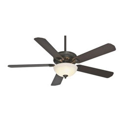 Casablanca - Casablanca Ainsworth Gallery 60 Ceiling Fan in Basque Black - Casablanca Ainsworth Gallery 60 Model CA-55007 in Basque Black with Reversible Smoked Walnut/Espresso Finished Blades.