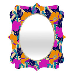 DENY Designs - Aimee St Hill June Quatrefoil Mirror - Mirror, mirror on the wall. Who's the fairest one of all? We'll that's easy, the quatrefoil mirror collection, of course! With a sleek mix of baltic birch ply trim that's unique to each piece and a glossy aluminum frame, the rectangular mirror makes you feel oh so pretty every time you catch a glimpse. Custom made in the USA for every order.