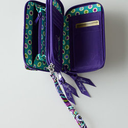 Vera Bradley - Vera Bradley All-in-One Crossbody - Vera Bradley's vivid use of color adds a distinctive touch to your travel itinerary. This little crossbody has a place for everything, so it houses all your essentials when you're on the move. Front magnetic pocket for phone. One zippered compartment....