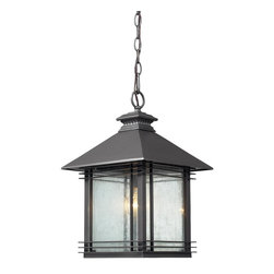 Elk Lighting - Elk Lighting 42303/1 1 Light Outdoor PendantBlackwell Collection - Blackwell is one of England's most important surviving houses from the turn of the 20th century and is a superb example of Arts and Crafts movement architecture.