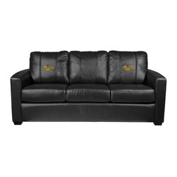 Dreamseat Inc. - Ford Outdoor Life Xcalibur Leather Sofa - Check out this incredible Sofa. It's the ultimate in modern styled home leather furniture, and it's one of the coolest things we've ever seen. This is unbelievably comfortable - once you're in it, you won't want to get up. Features a zip-in-zip-out logo panel embroidered with 70,000 stitches. Converts from a solid color to custom-logo furniture in seconds - perfect for a shared or multi-purpose room. Root for several teams? Simply swap the panels out when the seasons change. This is a true statement piece that is perfect for your Man Cave, Game Room, basement or garage.