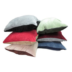 None - Oversized Plush Floor Cushion (28 x 36 inches) - This oversized super plush pillow is perfect for lounging,watching TV or extra decorative seating. The soft cover is removable for easy machine washing.