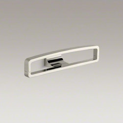 """KOHLER - KOHLER Loure(R) 12"""" rectangular robe hook - Loure offers thoughtful and versatile accessories that coordinate with a wide range of contemporary faucets and interiors. This robe hook features a unique rectangle shape with slightly rounded top corners, providing a convenient place for hanging your ro"""