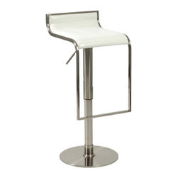 Eurostyle - Eurostyle Forest Bar/ Counter Stool in White & Satin Nickel - Bar/ Counter Stool in White & Satin Nickel belongs to Forest Collection by Eurostyle There are some rooms that demand the look and feel of leather and wood. They are usually the same rooms that demand outstanding build quality and the elegance of a satin nickel frame. Last call for excellent taste. Bar/ Counter Stool (1)
