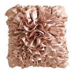 Blush Ruffle Pillow - Can you say soft and feminine? I love this pillow! What a beautiful, chic sentiment you can add to a space with this pillow.