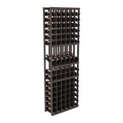 Wine Racks America - 6 Column Display Row Wine Cellar Kit in Pine, Black + Satin Finish - Make your best vintage the focal point of your wine cellar. These decorative wine racks allow presentation of favored and coveted labels. This solid build wine rack is constructed from superior pine and redwood materials. Features our industry exclusive solid display trays with a high reveal.