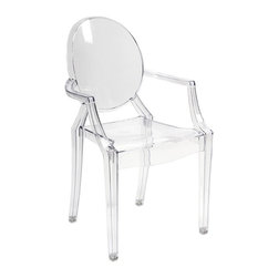 iMax - Davante Transparent Arm Chair - Featuring a modern and funky design concept, this trend-setting stylish chair incorporates a cutting edge transparent acrylic design that transitions well in a variety of decor.
