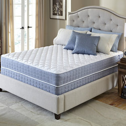 Serta - Serta Revival Plush Twin-size Mattress and Foundation Set - Experience blissful sleep with the comfort and support your body needs with this Plush mattress and foundation from Serta. This mattress is designed to offer the quality you expect from the Serta brand at an exceptional value.