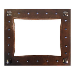 Ironwood - Rustic Picture Frames Nail Head Embellished Iron Picture Frame, 4x6 - Our  iron  metal  frame  with  4x6  opening  in  made  in  oxidized  metal  and  embellished  with  a  nail  head  tacks.  Perfect  for  favorite  photos,  this  frame  is  a  beautiful  piece  of  art  work.  Display  photos  of  special  memories  and  special  people  in  a  rustic  metal,  frame.  Made  in  the  USA,  this  Rustic  metal  Picture  Frame  includes  glass,  backing  and  hanging  hardware.  Can  be  hung  vertically  or  horizontally.  4x6  opening;  Solid  metal.  Mounts  on  tabletop,  or  hangs  from  the  wall;  hardware  included.