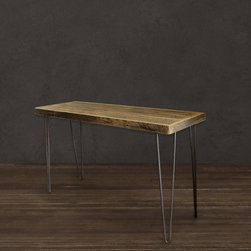 Reclaimed Wood Raw Tall Console Table - Reclaimed Wood Console Table (Collins Collection)