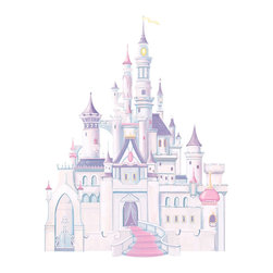 York Wallcoverings - Disney Princess Castle Large Self Stick Wall Accent Decor - Features: