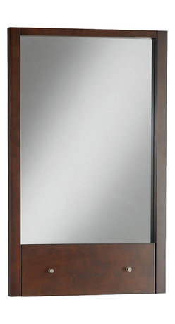 "American Standard - American Standard 9435.101.310 Cascada Mirror, Tobacco. - This American Standard 9435.101.310 Cascada Mirror is part of the Cascada collection, and comes in a beautiful Tobacco finish. This rectangular mirror features a birch hardwood construction, maple veneers, and includes it's own innovative drop down shelf. It measures 22-1/4"" by 31""."