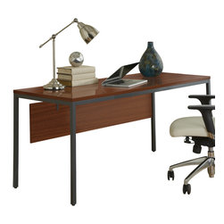 "Jesper Office Furniture - Parsons Edition 63"" Writing Desk with Modesty Panel in Cherry - Features:"