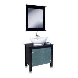 Fresca - Fresca FVN3328ES Emotivo Espresso Modern Bathroom Vanity With Mirror - Fresca FVN3328ES Emotivo Espresso Modern Bathroom Vanity With Mirror