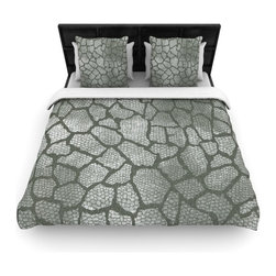 "Kess InHouse - Heidi Jennings ""Gray Snake Skin"" Grey Fleece Duvet Cover (Twin, 68"" x 88"") - You can curate your bedroom and turn your down comforter, UP! You're about to dream and WAKE in color with this uber stylish focal point of your bedroom with this duvet cover! Crafted at the click of your mouse, this duvet cover is not only personal and inspiring but super soft. Created out of microfiber material that is delectable, our duvets are ultra comfortable and beyond soft. Get up on the right side of the bed, or the left, this duvet cover will look good from every angle."