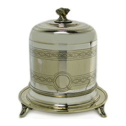 Lavish Shoestring - Consigned Silver Plated Cookie Storage Jar, Antique English, 19th Century - This is a vintage one-of-a-kind item.