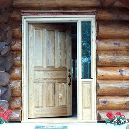 Oversized oak 7 panel entry door - An over sized, solid, 7 panel, white oak, custom built entry door by John Huisman. http://huismanconcepts.com/